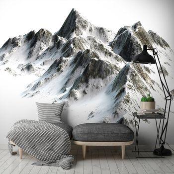Fotótapéta - Hóval borított hegyek (T030410T254184A)