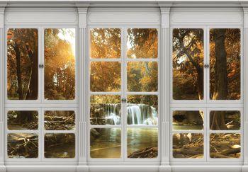 Foto tapeta - Jesenski slap - okno (T030417T208146B)