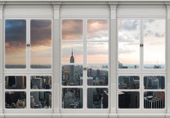 Fototapet - New York  - privire din geam (T030419T368280A)