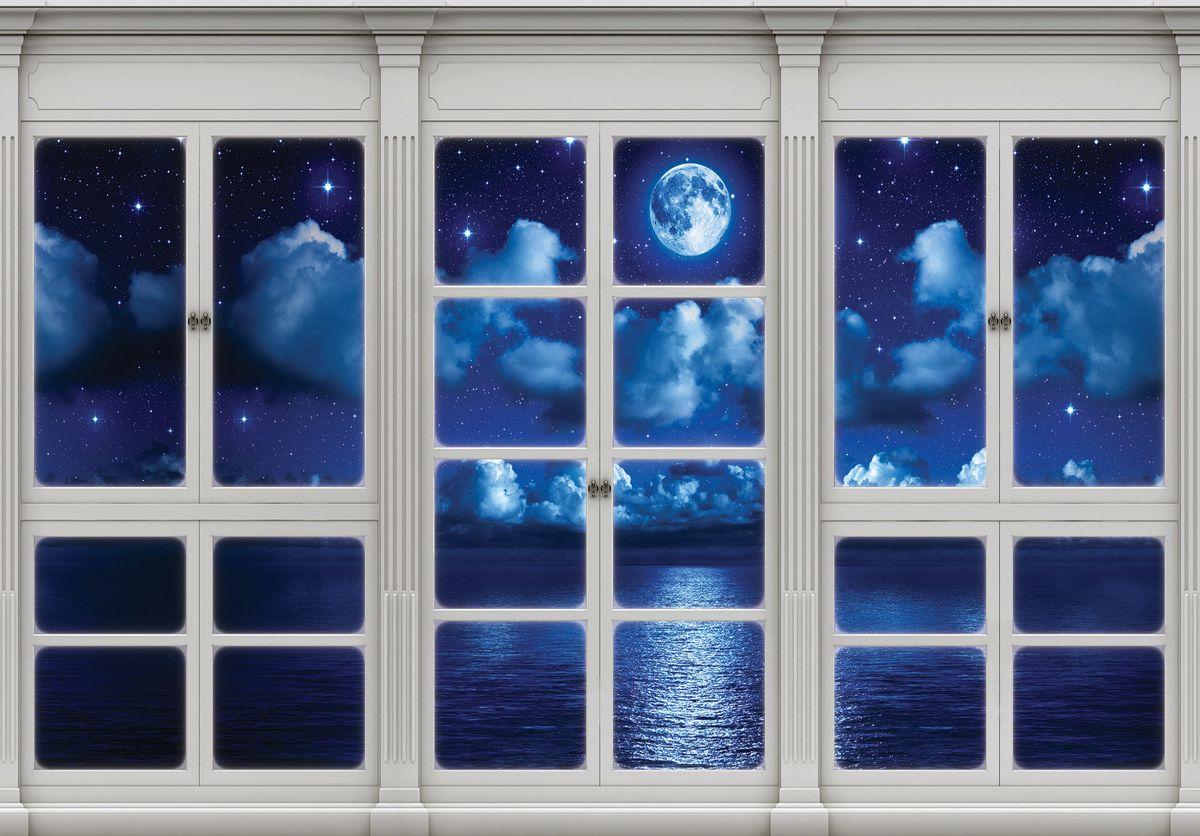 Fototapeta - Obloha v nočním okně (T030420T1525104B)