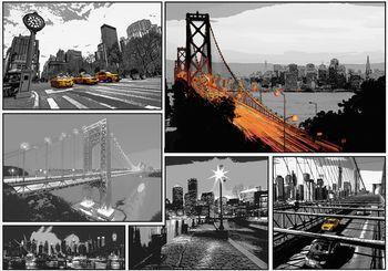 Fotótapéta - Képregény városok (T030457T368280A)