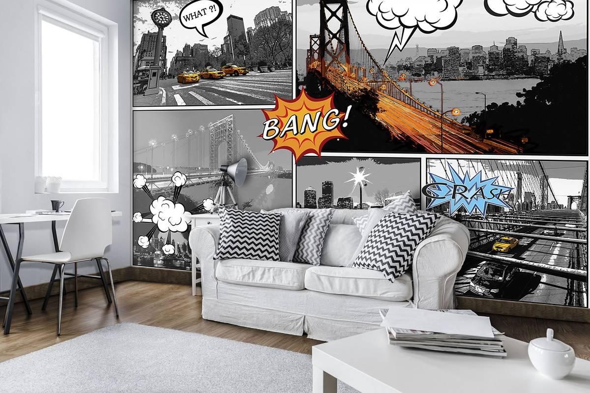 Fototapet - Orașe  din comics (T030458T368280A)