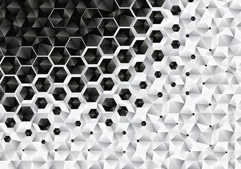 Foto tapeta - 3D šesterokotniki (T030467T368280A)