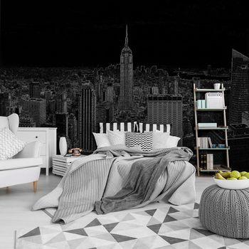 Foto tapeta - Crno-bijela skica grada (T030469T368280A)