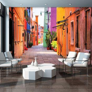 Foto tapeta - Venecija - ulica Burano (T030534T368280A)