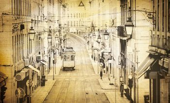Fototapeta - Město Vintage (T030610T368280A)