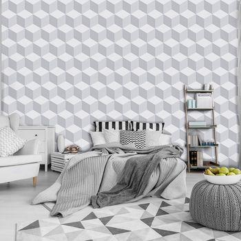 Fototapet - Mozaic - 3D alb (T030657T368280A)