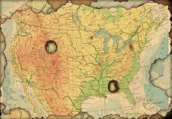 Fototapeta - Mapa -ohořelá (T030663T368254A)