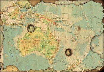 Fototapeta - Mapa - obhorená (T030664T254184A)