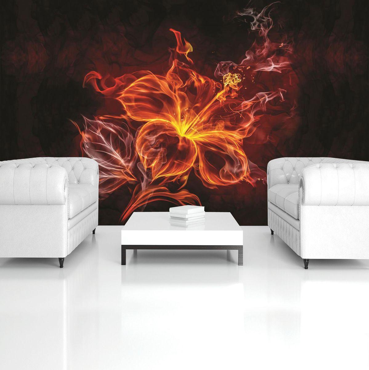 Fototapeta - Květ - oheň a kouř (T030721T368254A)