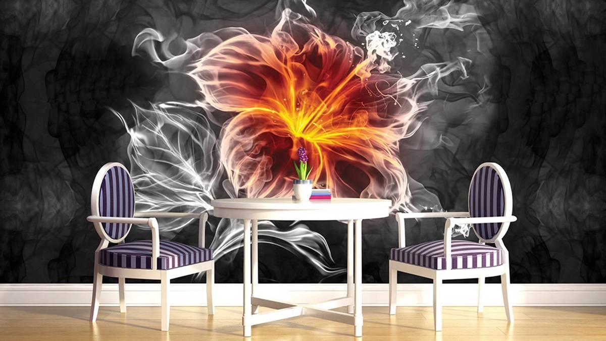 Fototapeta - Květ - kouř (T030743T254184A)