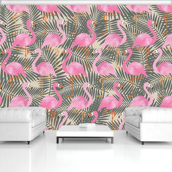 Fototapet - Flamingo - roz spre gri (T030775T368280A)