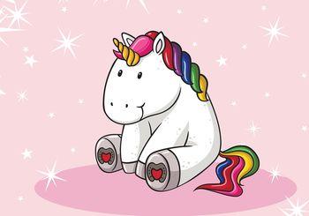 Fototapet - Unicorn - roz (T030849T368280A)