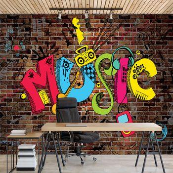 Foto tapeta - Grafiti - glasba (T031092T368280A)