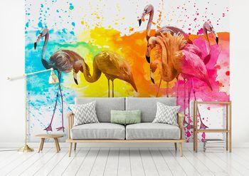 Foto tapeta - Flamingosi (T031296T368280A)