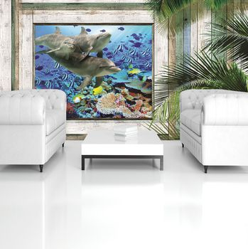 Fototapeta - Delfíni ryby pod mořem (T031299T254184A)
