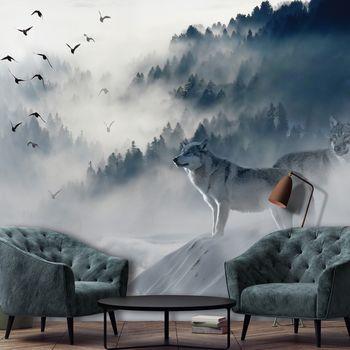 Fotótapéta - Madarak a ködben (T031327T254184A)