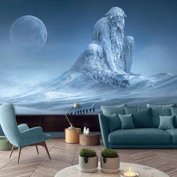 Fototapeta - Titan bojuje s drakem v měsíčním světle (T031345T368280A)