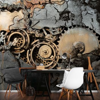 Fototapeta - Ozubené koleso v skale (T031430T368254A)