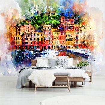 Fotótapéta - Városr - festett akvarellek (T031612T368280A)