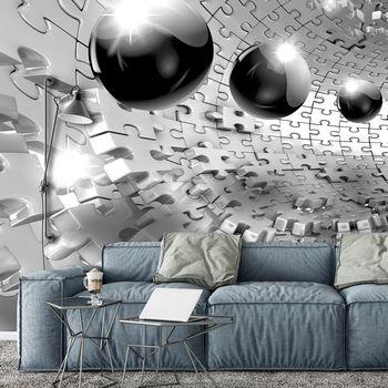 Foto tapeta - 3D kugla u sivoj boji (T031957T368280A)
