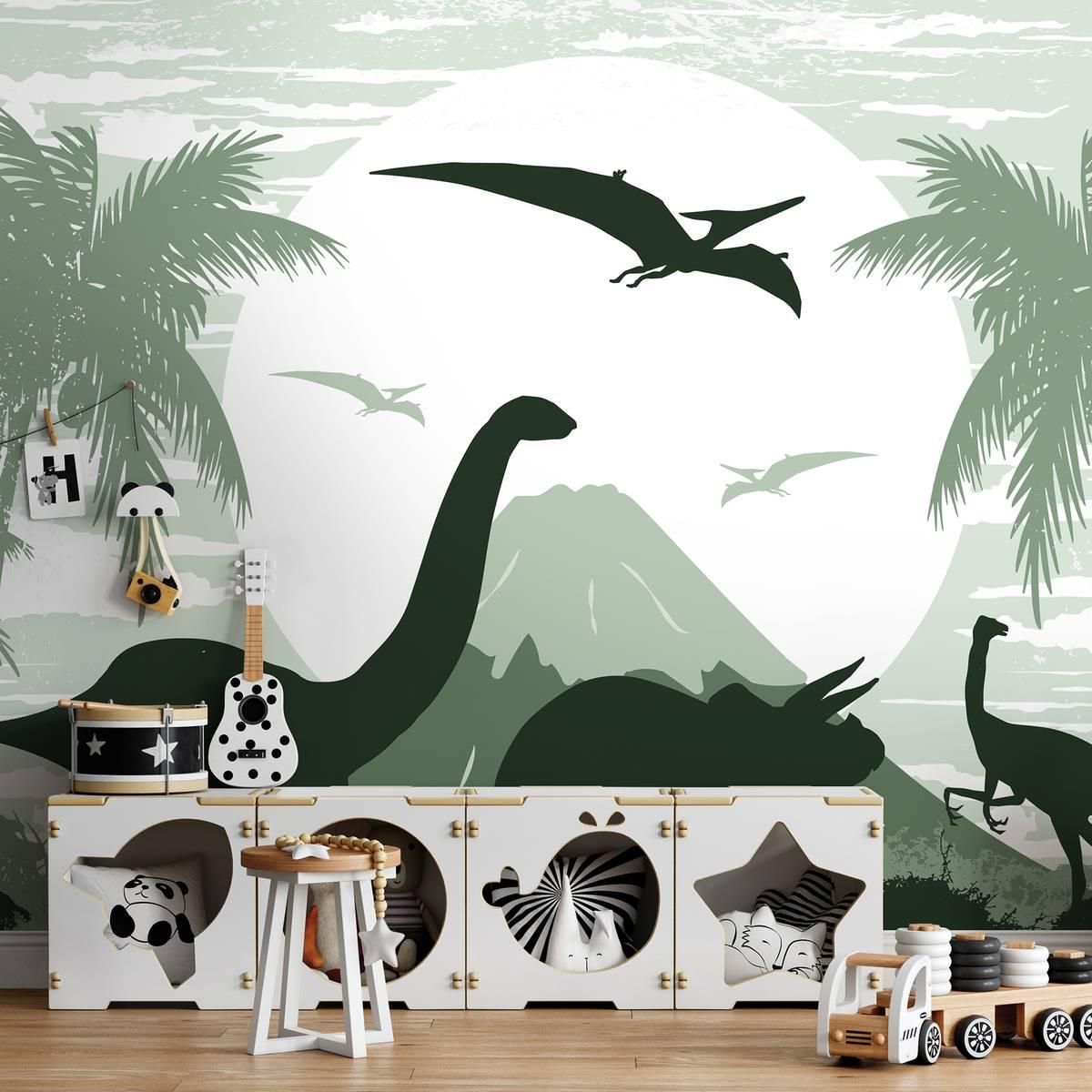 Fototapeta - Zelení dinosauři (T032061T254184B)