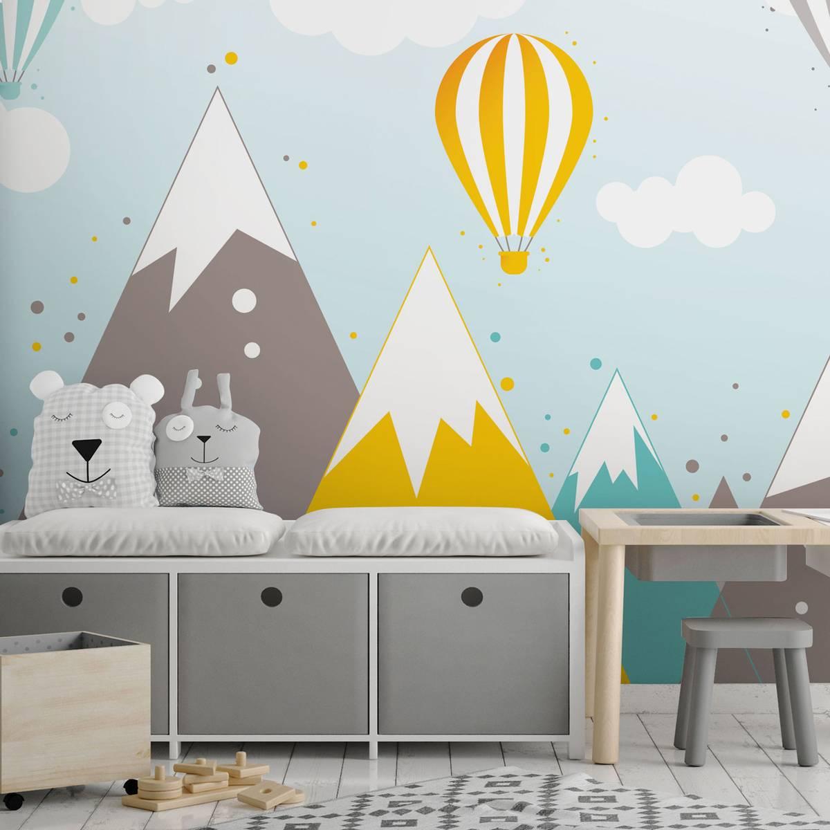 Foto tapeta - Planine i baloni na vrući zrak (T032064T254184A)