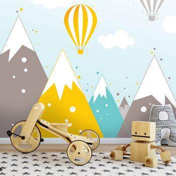 Foto tapeta - Planine i baloni na vrući zrak (T032064T1525104B)