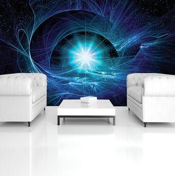 Foto tapeta - Modra abstraktna supernova (T032547T254184A)