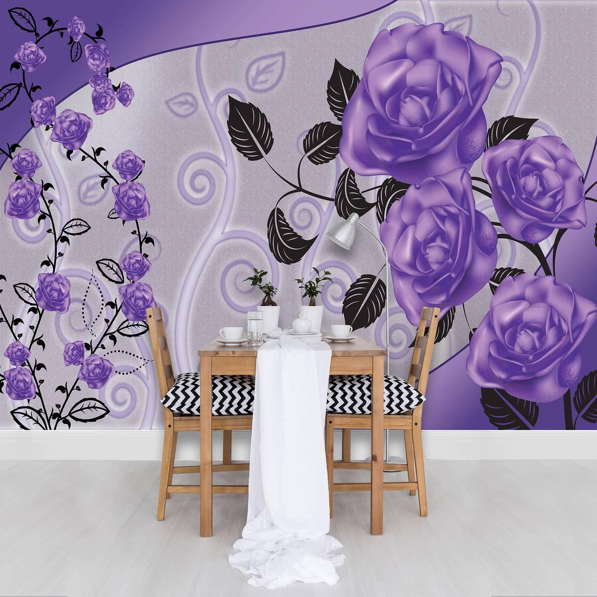 Foto tapeta - Ljubičaste ruže (T032563T254184B)