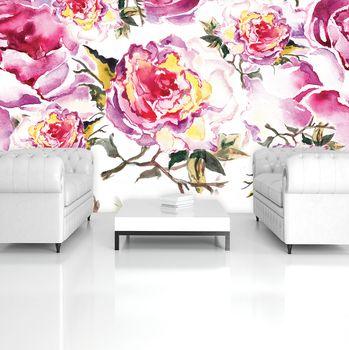 Fotótapéta - Akvarellek - virág (T032600T254184A)