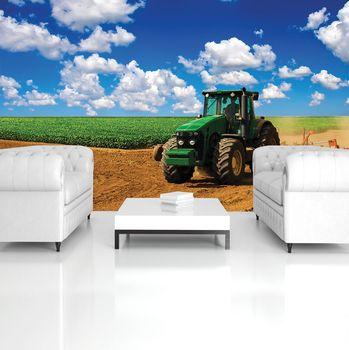 Fotótapéta - Zöld traktor a pályán (T032622T254184A)