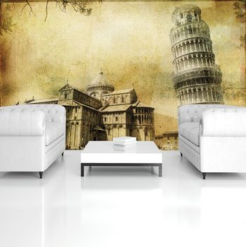 Fototapeta - Vintage Art Pisa (T032651T254184A)