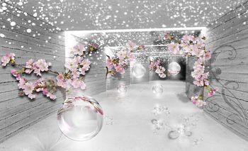 Foto tapeta - Čaroban 3D tunel s cvijećem (T032720T460300A)