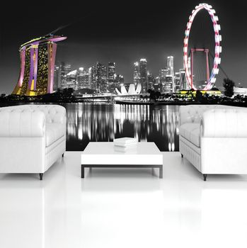 Foto tapeta - Panorama noćnog grada (T032732T254184A)