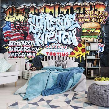 Fototapet - Cel mai bun burger - Graffiti (T032860T254184A)