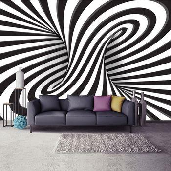 Foto tapeta - Bijelo-crni 3D vrtlog (T032947T254184A)