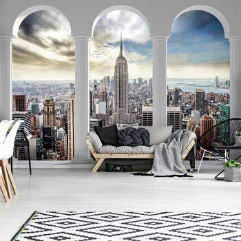 Fototapeta - Pohľad na New York Pillars (T033032T254184A)