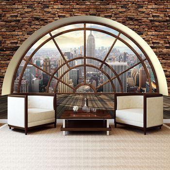 Foto tapeta - New York - pogled skozi okno (T033086T254184A)