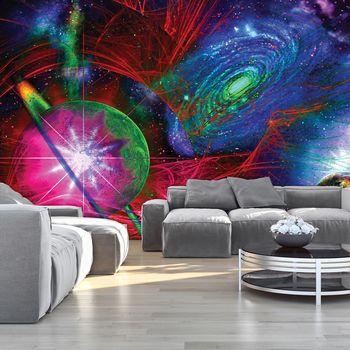 Fototapeta - Barevné abstraktní vesmír (T033191T254184A)