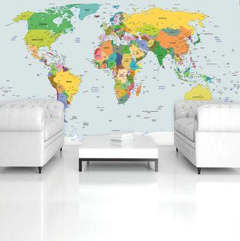 Foto tapeta - Zemljevid sveta - države (T033298T254184A)