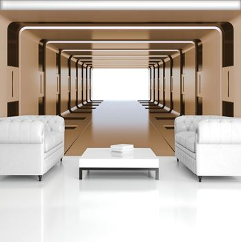Foto tapeta - 3D tunel (T033402T254184A)