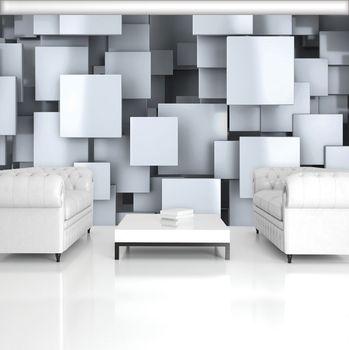 Foto tapeta - 3D kvadrati (T033412T254184A)
