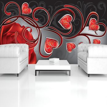 Fototapeta - Červené srdce (T033615T254184A)