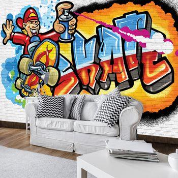 Fototapet - Graffiti colorat - skateboard (T033627T254184A)