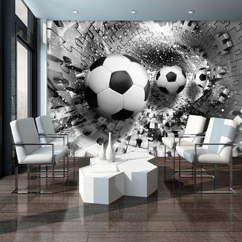 Foto tapeta - Nogometne lopte u 3D tunelu slagalica (T033913T254184A)