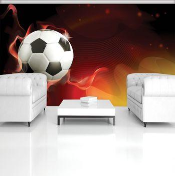 Fototapet - Fodbal pe fundal roșu (T033915T184254A)
