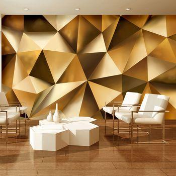 Fototapeta - Gold abstrakce 3D (T033975T368254B)