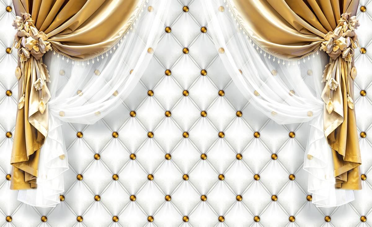 Foto tapeta - Zlatna zavjesa (T034050T1525104B)