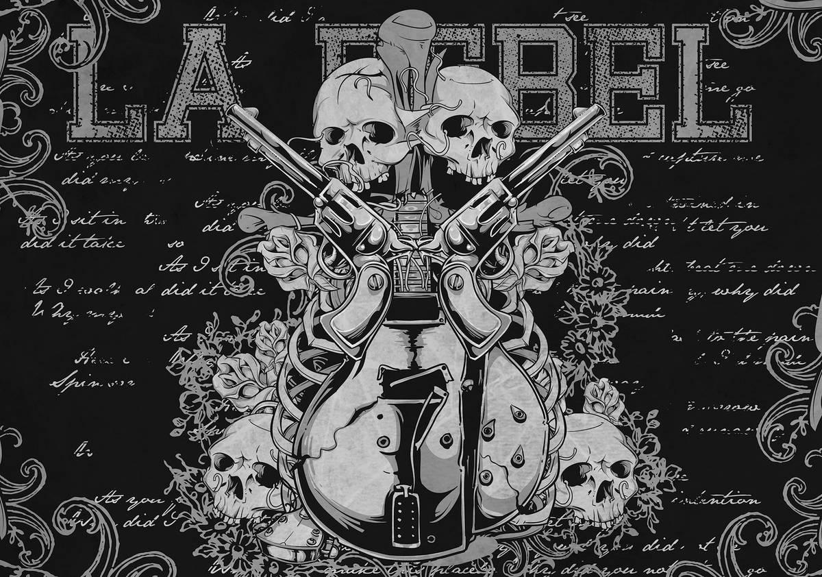Fototapet - Muzica Rock Guitar Art (T034604T254184A)